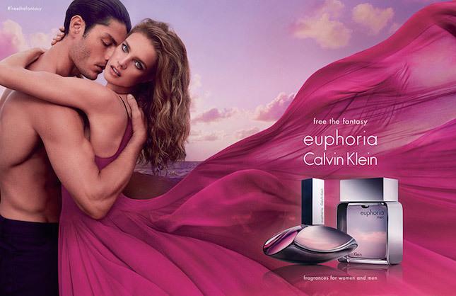 Модель Наталья Водянова и Тайсон Баллу в рекламе аромата Calvin Knein