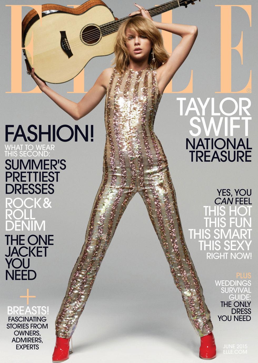 Певица Тейлор Свифт в музыкальном выпуске Elle