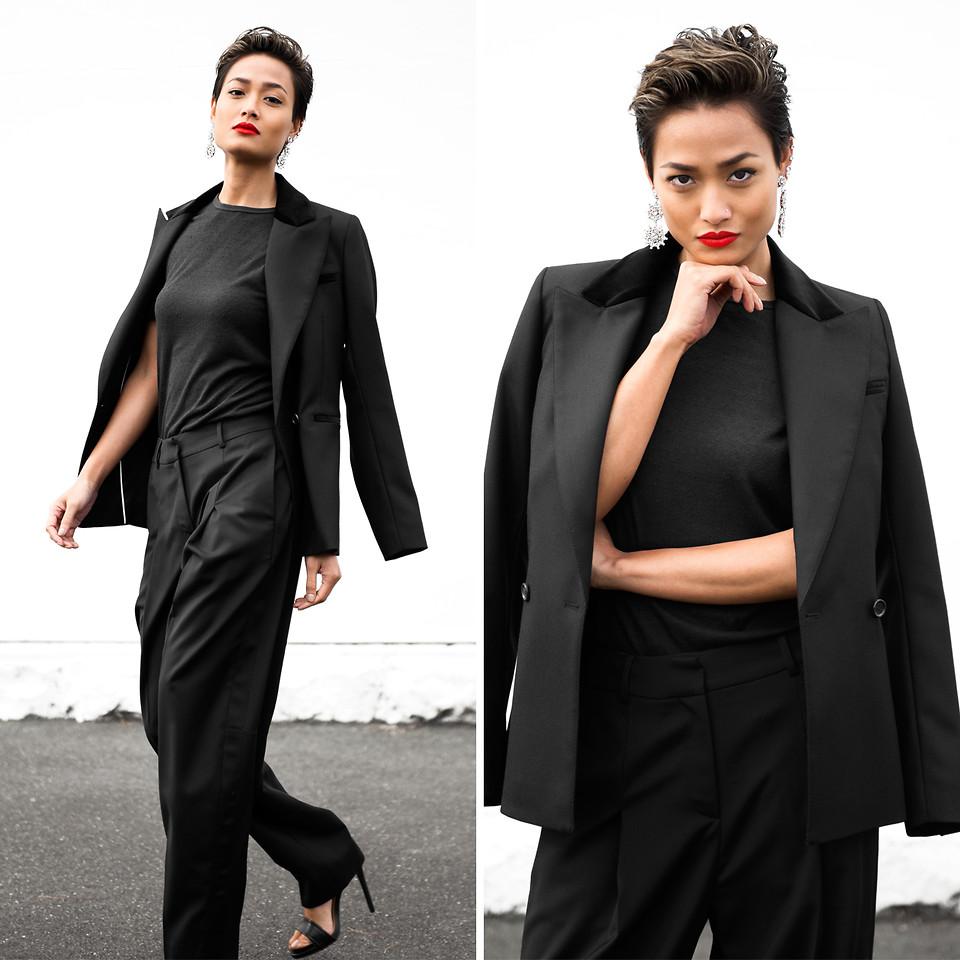 Образ в стиле total-black идеально подойдет под рабочий дресс-код
