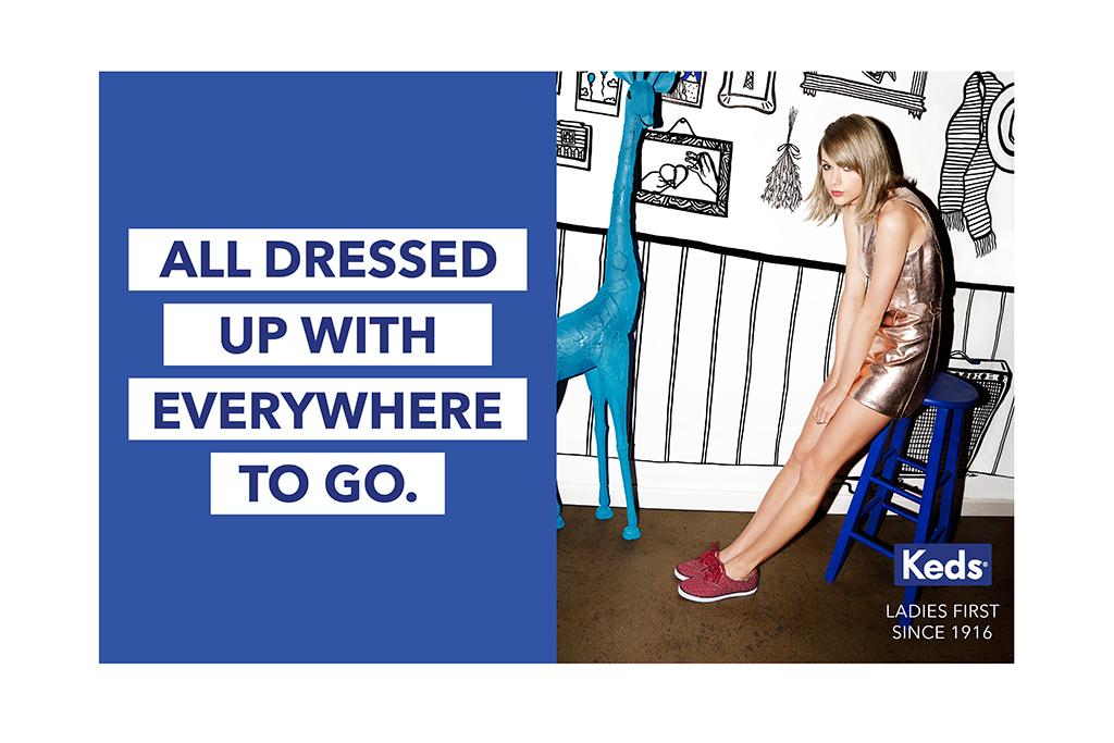 Тейлор Свифт стала лицом новой рекламной кампании Keds