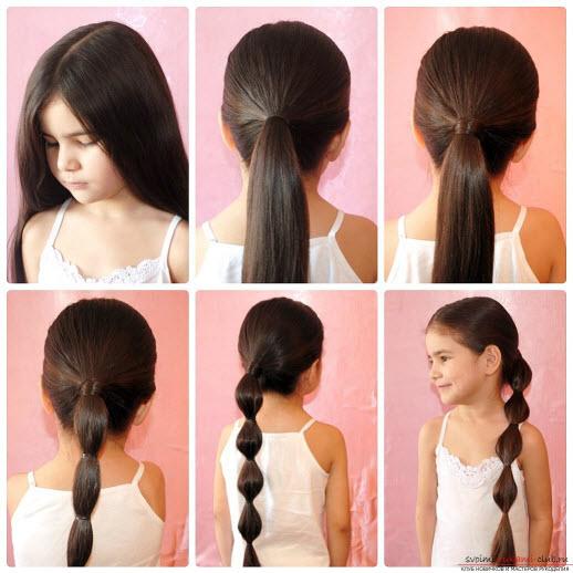 Прическа на длинные волосы -