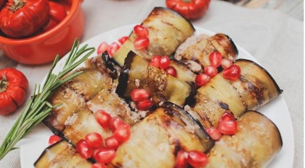 Жареные баклажаны в ореховом соусе
