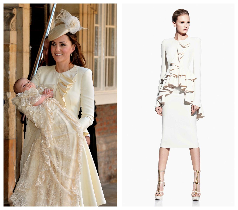 Кейт Миддлтон надела на крестины сына костюм от Alexander McQueen и шляпку Jane Taylor стоимостью более 1200$
