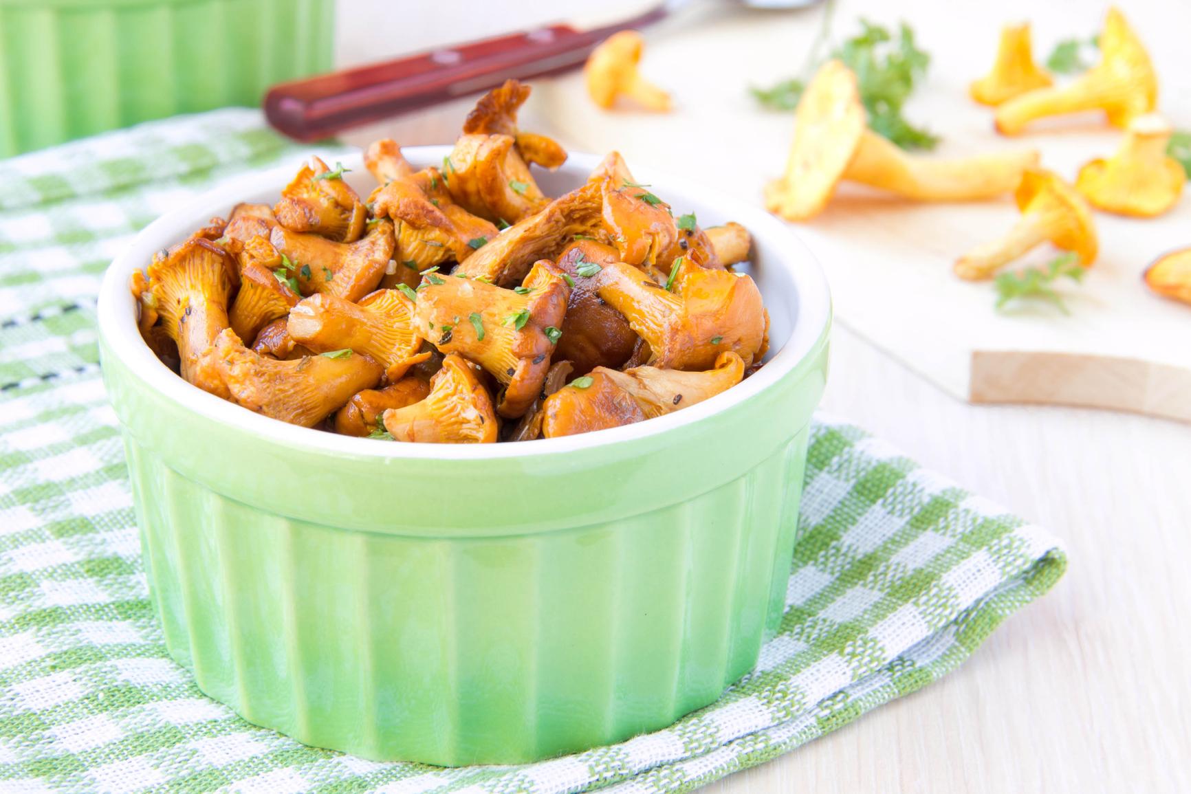 Лисички жареные рецепт с фото