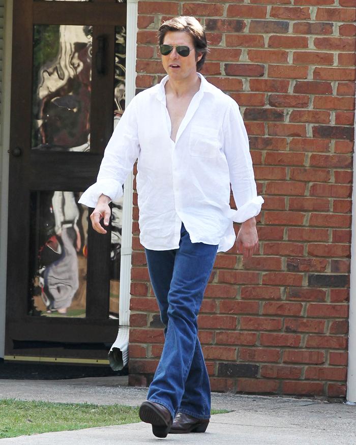 Том Круз на съемках фильма Мена