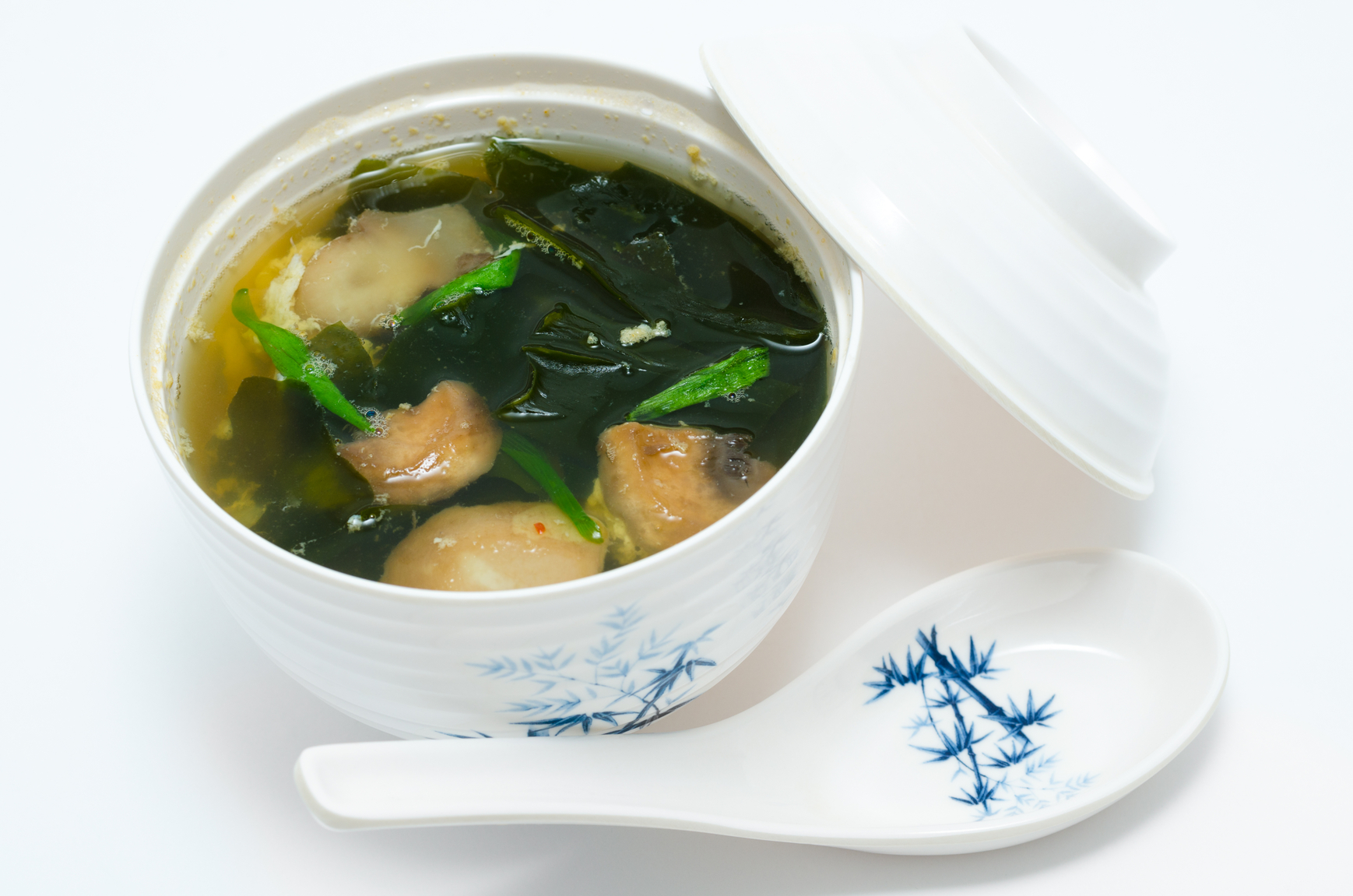 Суп из морской капусты с яйцом рецепт