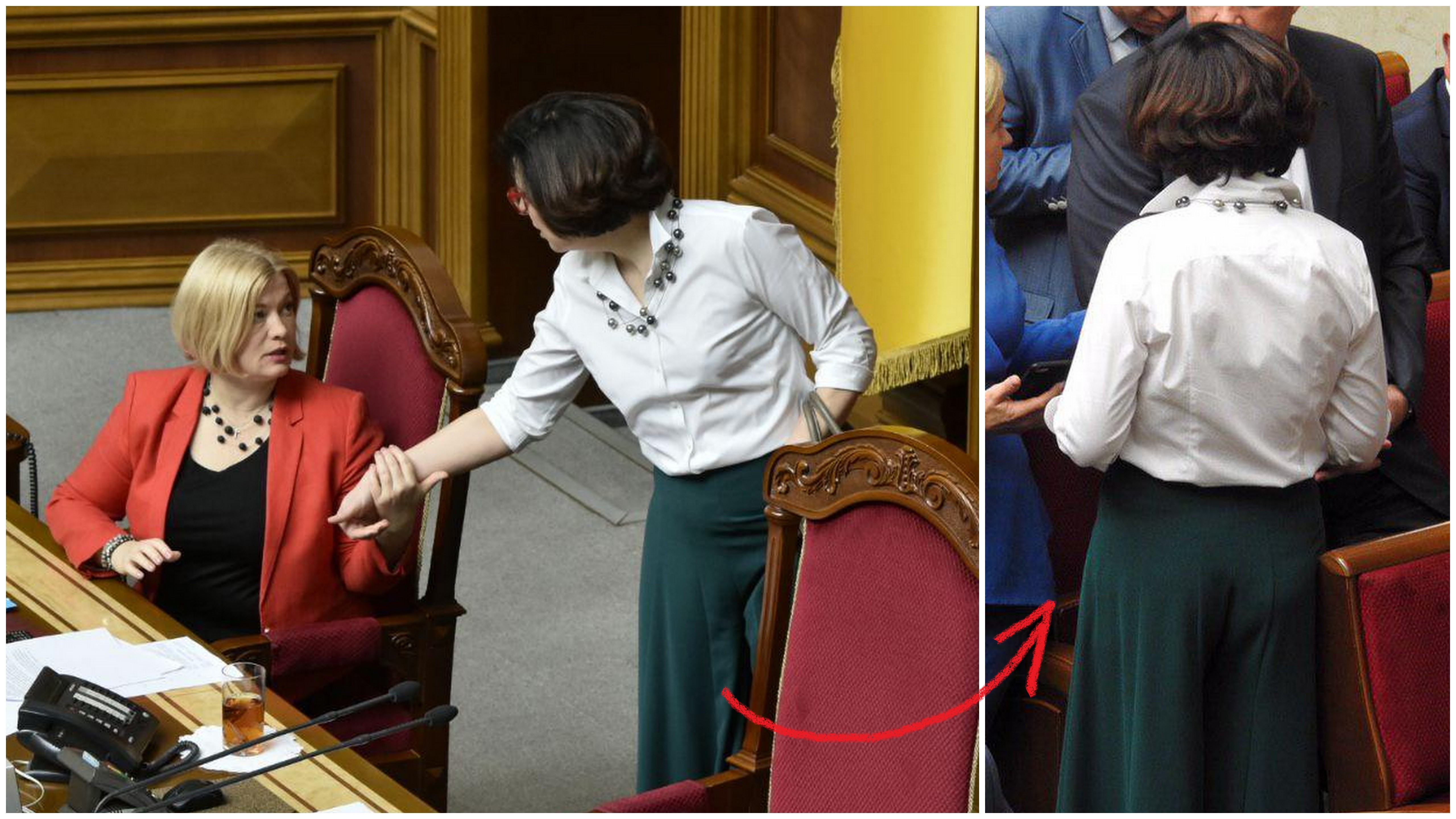Оксана Сыроед пришла в широких брюках, фото: Изым Каумбаев,