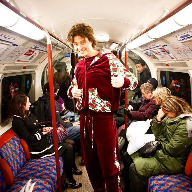 Прохор Шаляпин в лондонском метро
