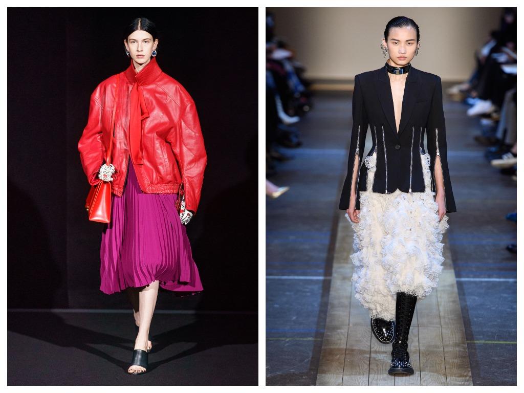 Чем необычнее и контрастней будет фактура юбки, тем более яркий образ получится