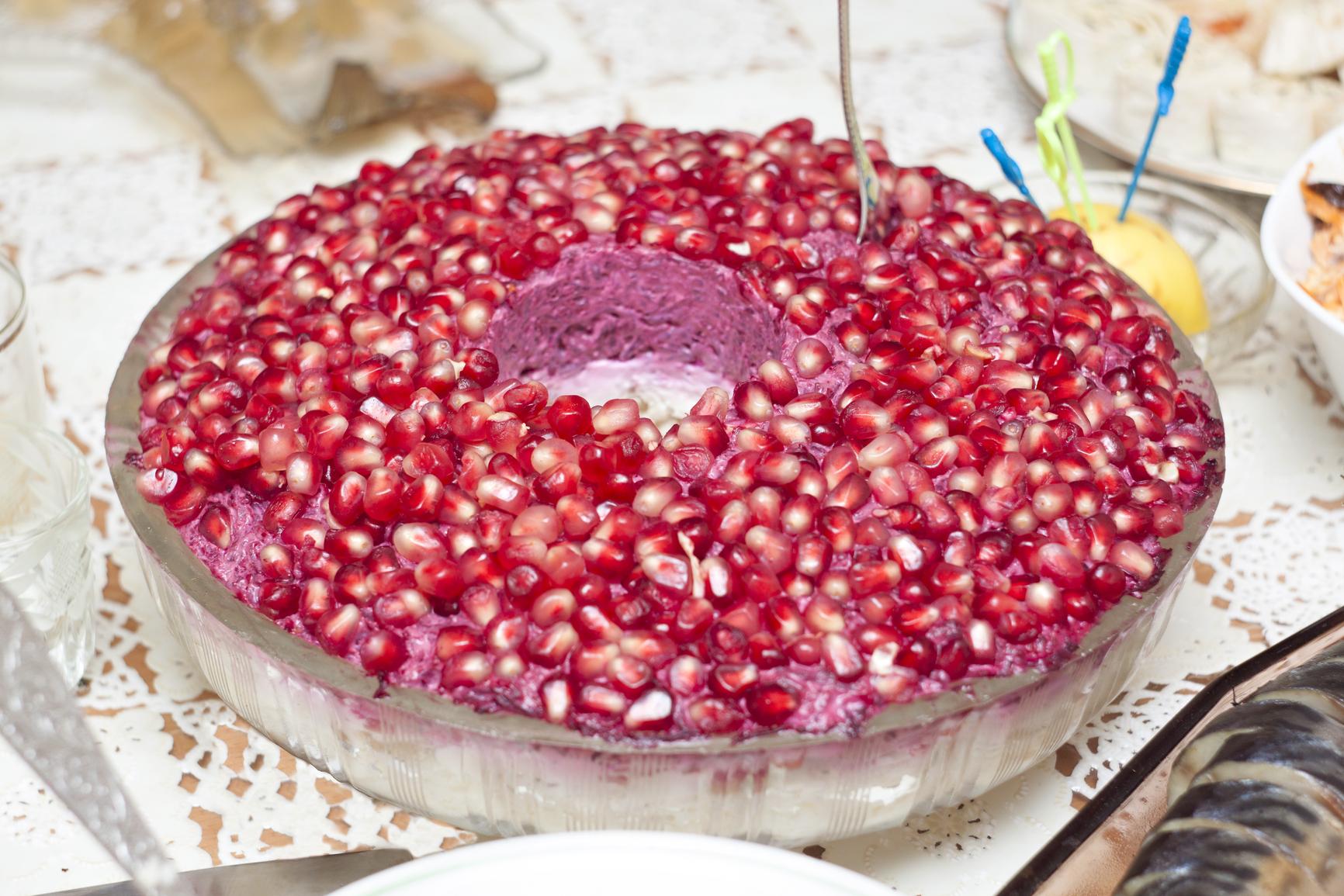 Гранатовый браслет салат рецепт с черносливом