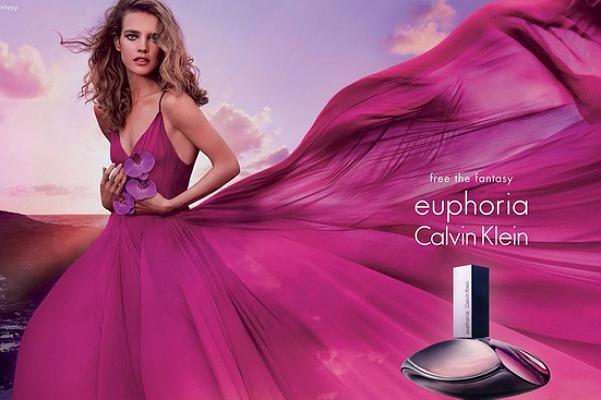 Модель Наталья Водянова в рекламе аромата Calvin Knein