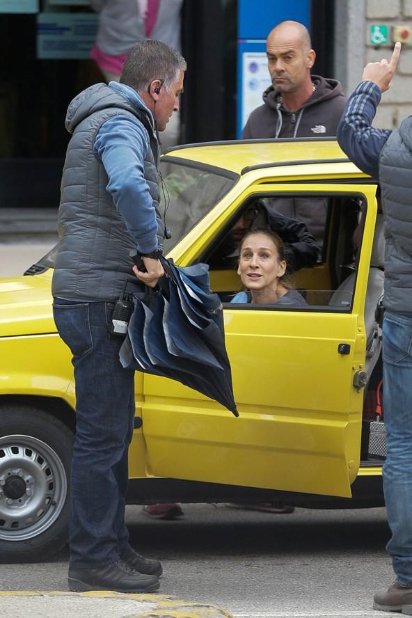 Сара Джессика Паркер на съемках фильма