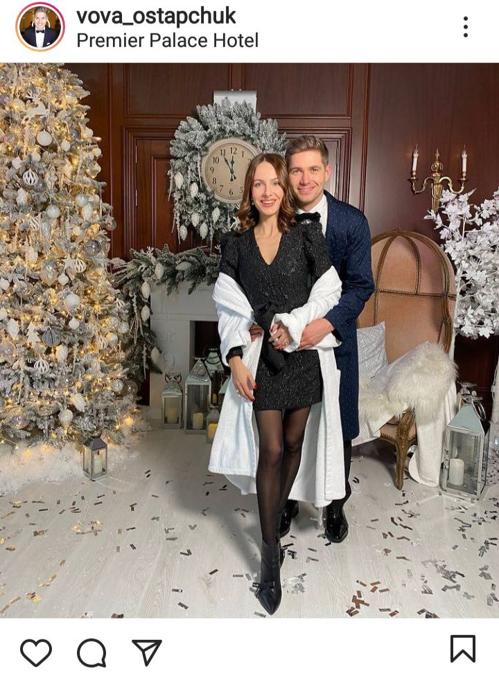 Остапчук показал атмосферное фото с женой