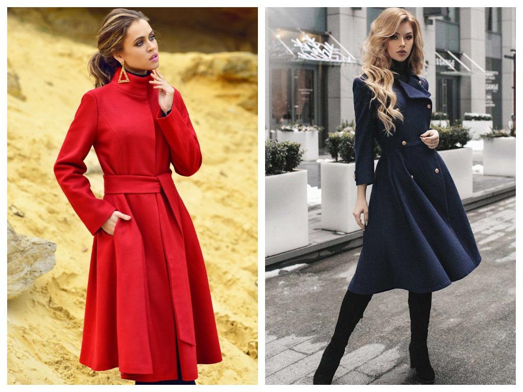 Расклешенное пальто замените вариантом с поясом прямого силуэта