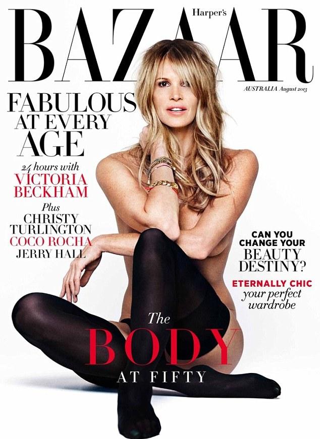 Прекрасна в любом возрасте: Эль Макферсон на августовской обложке австралийского Harper's Bazaar