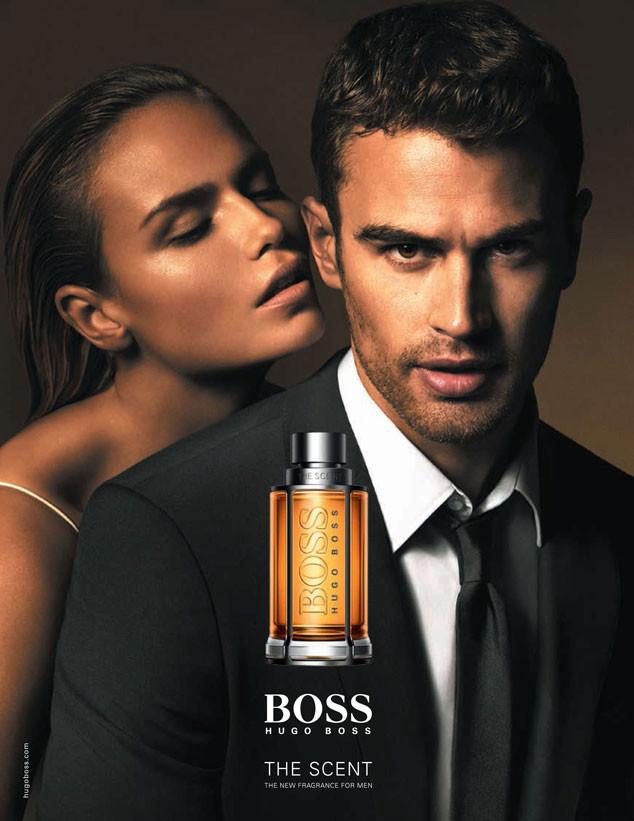 Актер Тео Джеймс и модель Наташа Поли в рекламе Hugo Boss