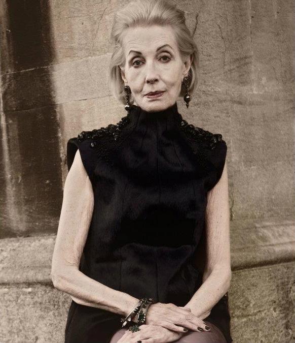 81-летняя Дженнифер Родос в рекламной кампании британского бренда Vielma