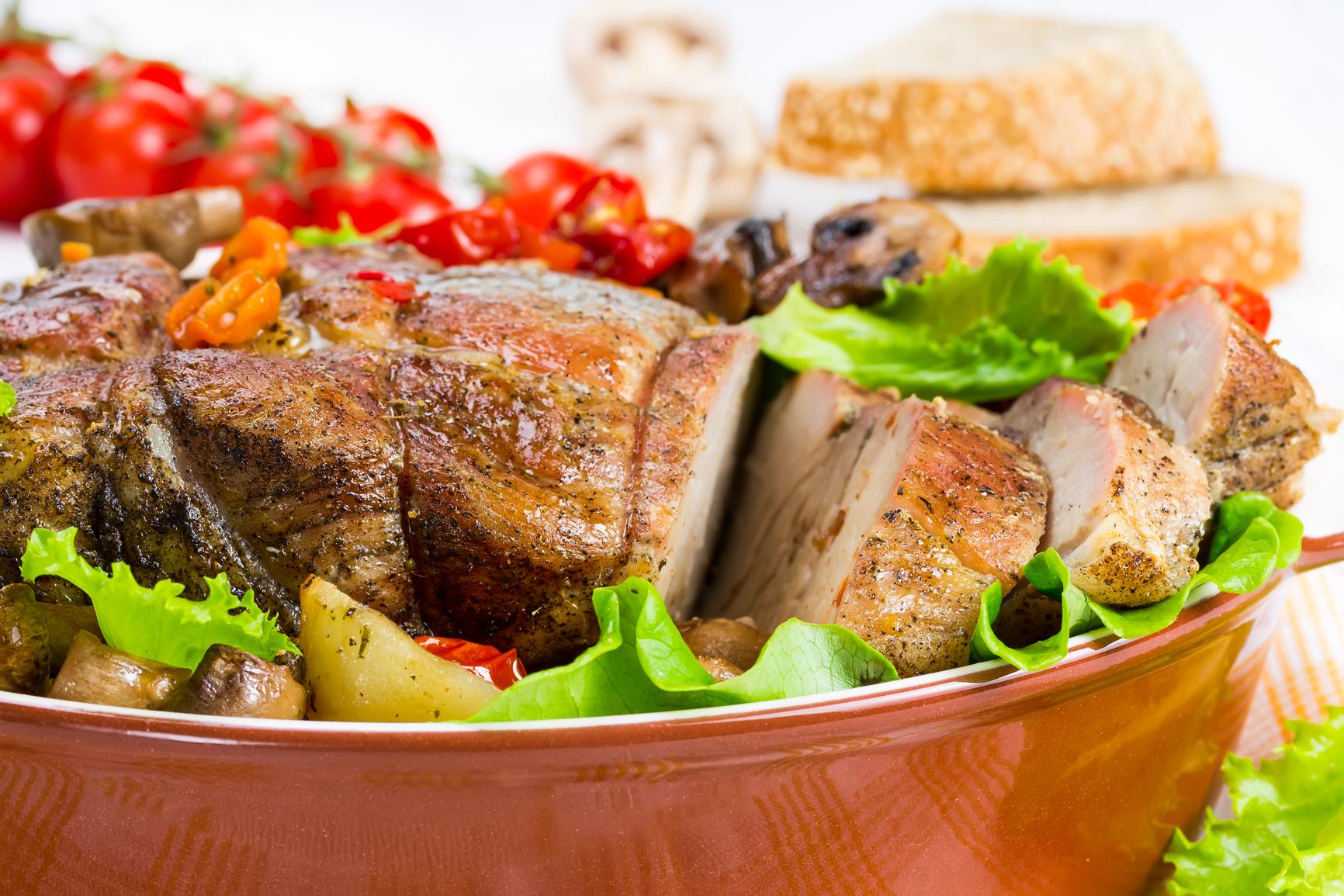 Мясо с овощами запеченное в духовке с фото