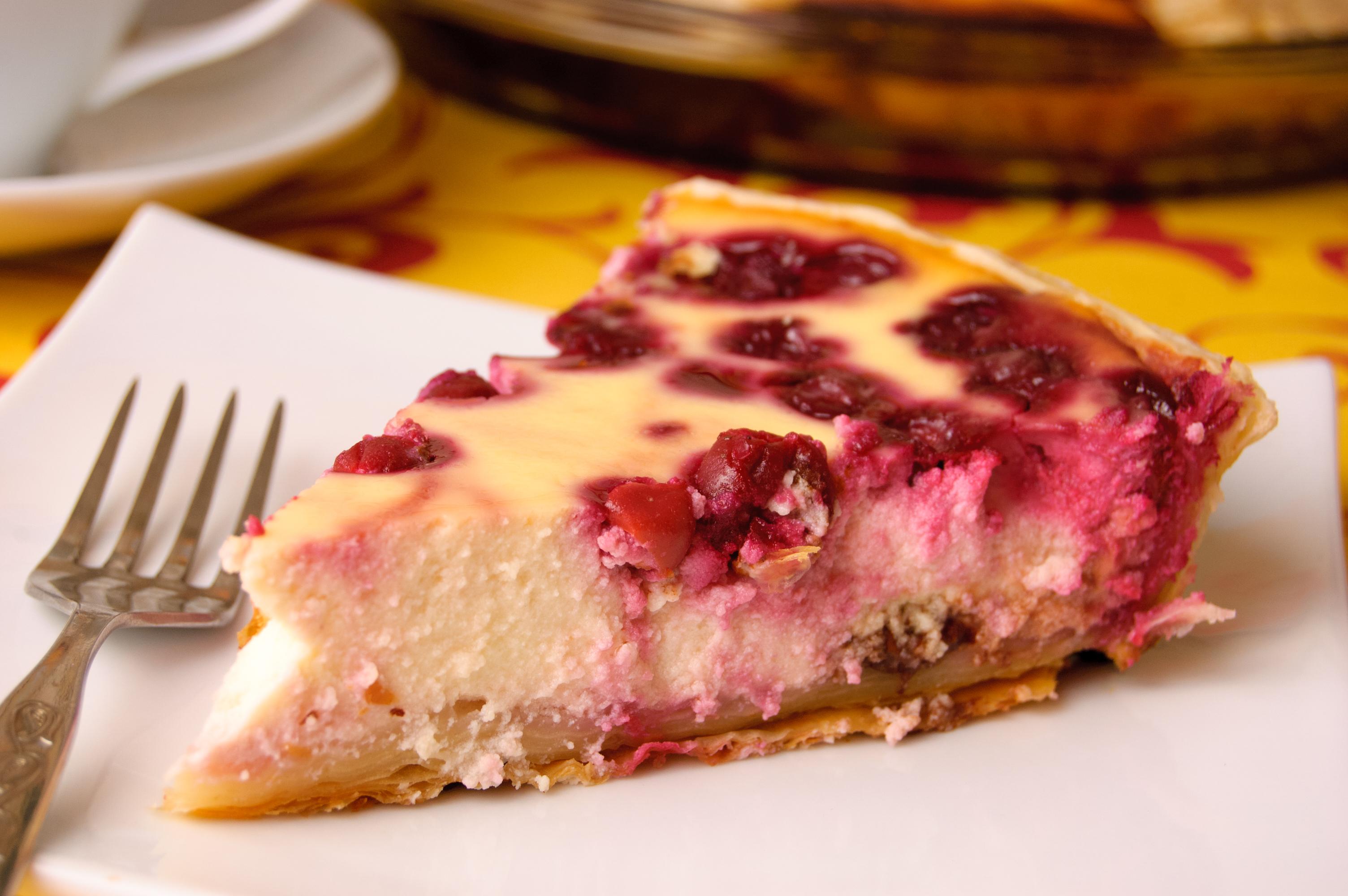 Открытый пирог с вишней замороженной рецепт пошагово