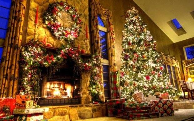 Убранство дома в Рождество