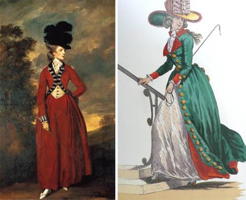 Пальто редингот 19 век