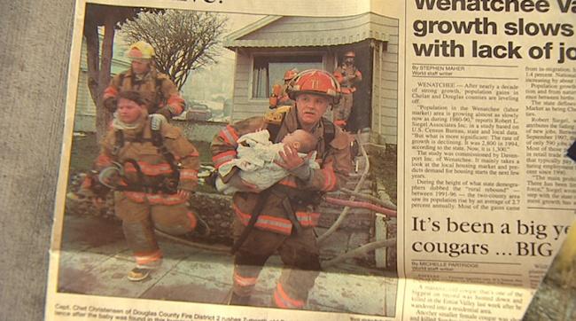 Пожарный спас маленькую девочку, и спустя много лет они встретились