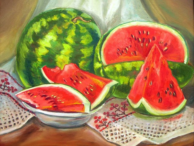 Мастер-класс Рисуем фрукты и ягоды акварелью