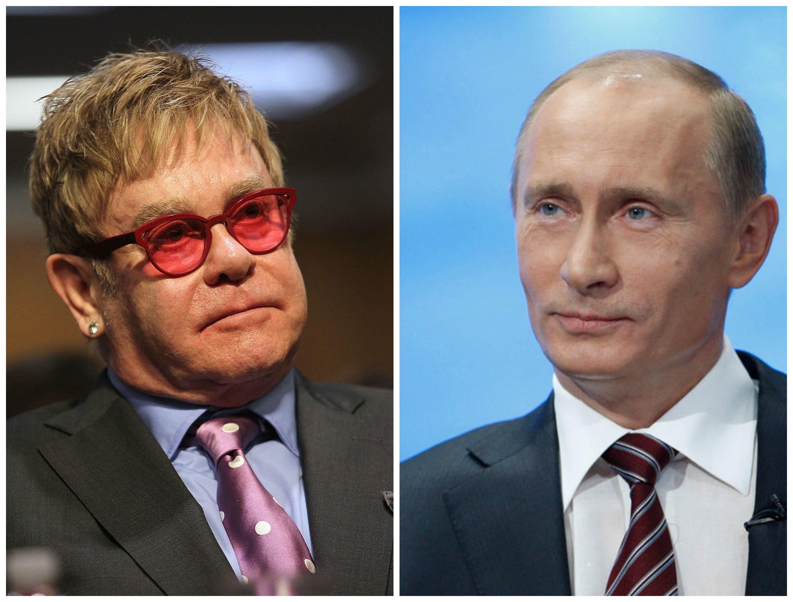 Элтон Джон хочет поговорить с Владимиром Путиным