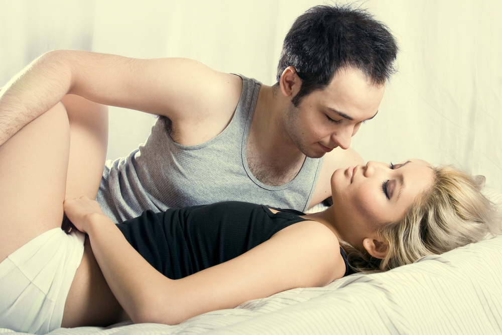 Девушка не может расслабиться перед сексом