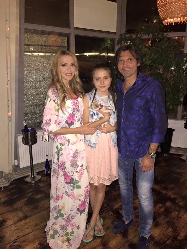 Ольга Сумская, дочь Анна, Виталий Борисюк