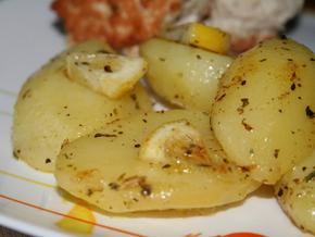 Картофель с лимоном