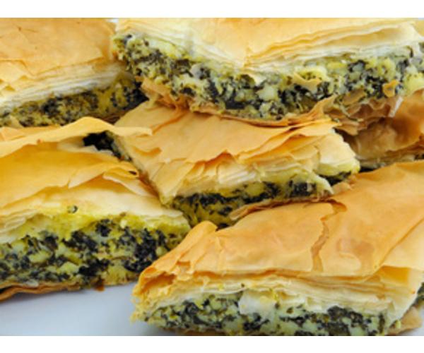Рецепт                  Греческий пирог со шпинатом и сыром