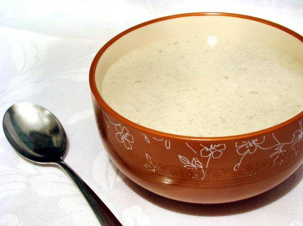 Рецепт                  Грибной крем-суп с голубым сыром