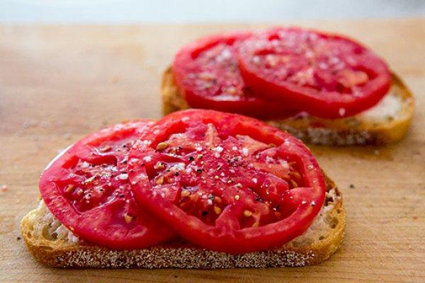 Рецепт                  Тосты с помидорами и сыром