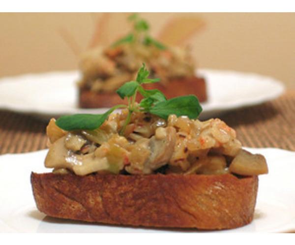 Рецепт                  Бутерброды с крабовым салатом