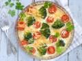 Запеканка с брокколи и помидорами