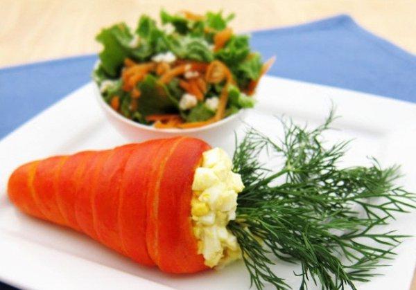 Рецепт                  Пасхальные морковки с яичным салатом
