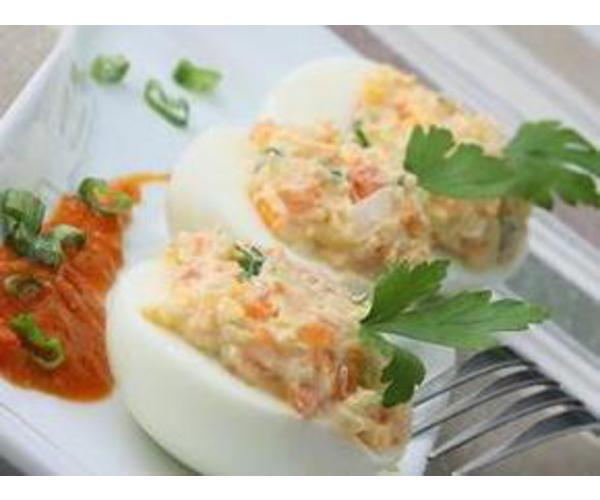 Рецепт                  Фаршированные яйца