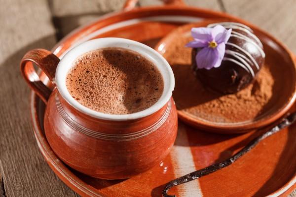Рецепт                  Горячий шоколад с ванилью