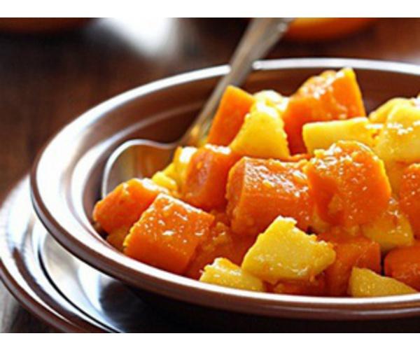 Рецепт                  Тыква с яблоками и апельсиновым мармеладом