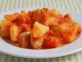 Картофельно-тыквенное рагу с индейкой