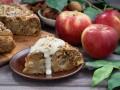 Яблочный пирог с орехами: три вкусные идеи