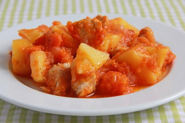 Рецепт                  Картофельно-тыквенное рагу с индейкой