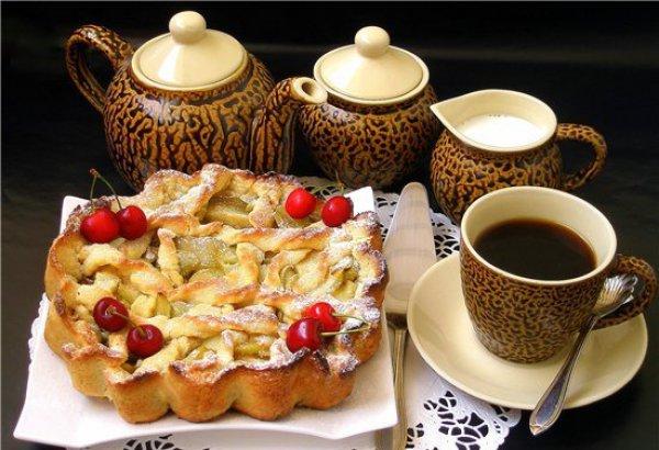 Рецепт                  Песочный пирог с яблоками и тыквой