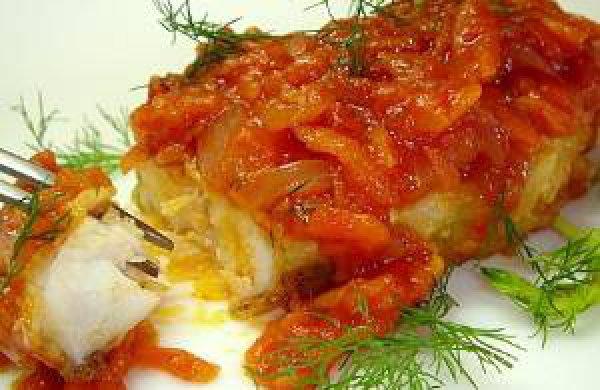 Рецепт                  Рыба по-монастырски