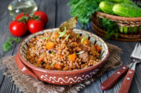 Рецепт                  Гречневая каша с мясом и тыквой