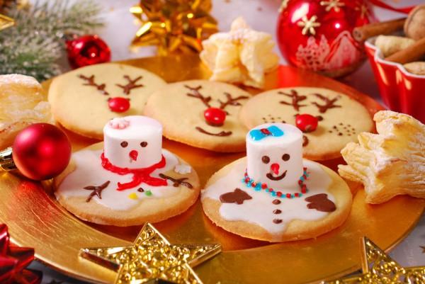 Печенье на Новый год Тающие снеговики