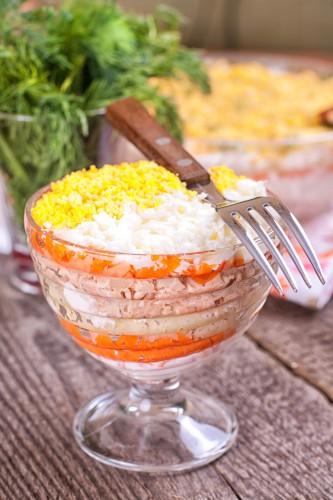 Рецепт                  Салат из печени с корейской морковью