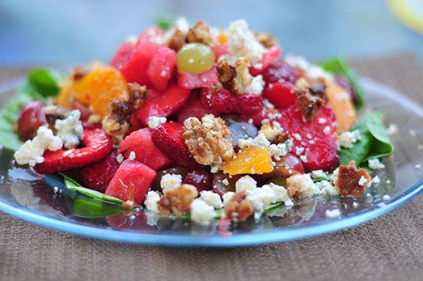 Рецепт                  Десертный салат из арбуза