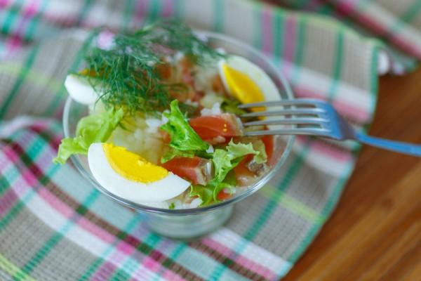 рецепт салата мимоза без картошки и моркови